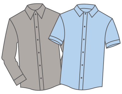 button-down embrodery
